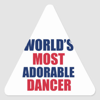 Adorable Dancer Triangle Sticker