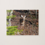 Adorable Deer in the Woods Nature Photography Jigsaw Puzzle