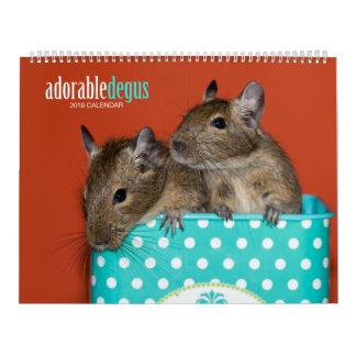 Adorable Degus 2018 Calendar