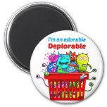 Adorable Deplorable, Basket of Deplorables 2 Inch Round Magnet