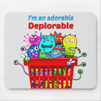 Adorable Deplorable, Basket of Deplorables Mouse Pad
