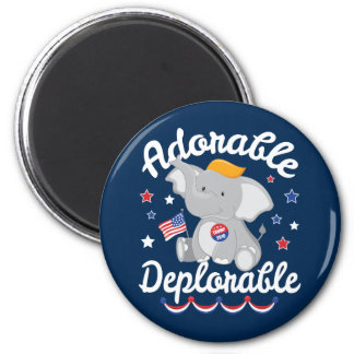 Adorable Deplorable Elephant Trump 2016 Magnet