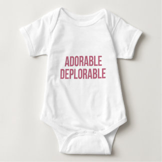 Adorable - Deplorable - Trump - Republican Baby Bodysuit