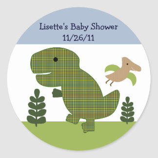 Adorable Dino/Dinosaur 2  Stickers/Envelope Seals Classic Round Sticker