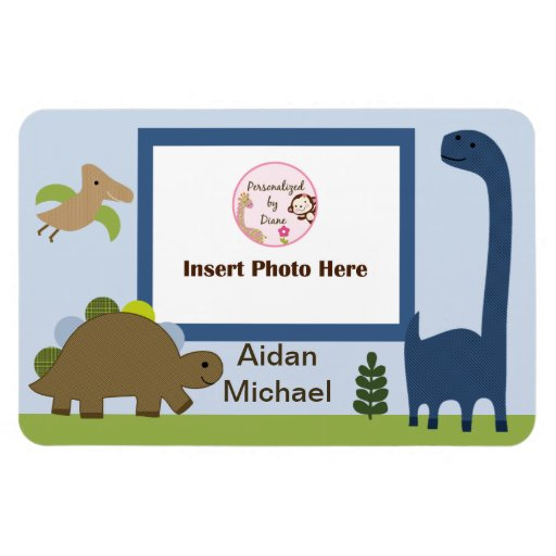 Adorable Dino/Dinosaur Photo Magnet Keepsake