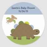 Adorable Dino/Dinosaur Stickers/Envelope Seals Classic Round Sticker