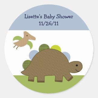 Adorable Dino/Dinosaur Stickers/Envelope Seals Classic Round Sticker