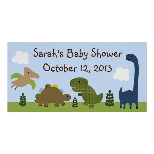 Adorable Dino/Dinosaurs Baby Shower Poster/Banner