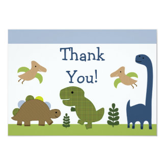 """Adorable Dino/Dinosaurs Baby Thank You Cards 5"""" X 7"""" Invitation Card"""