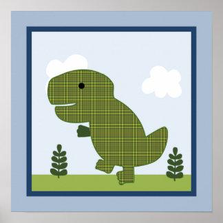Adorable Dinosaur 3 Wall Art Poster