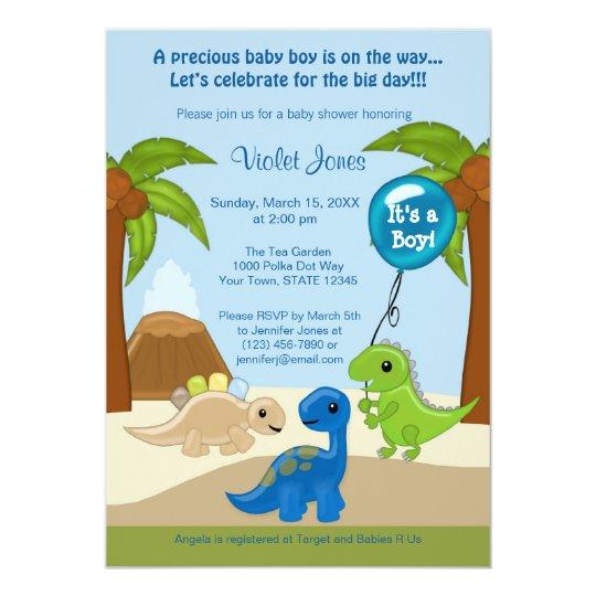 Sassy image with regard to free printable dinosaur baby shower invitations
