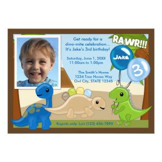 Adorable Dinosaur birthday invitation photo
