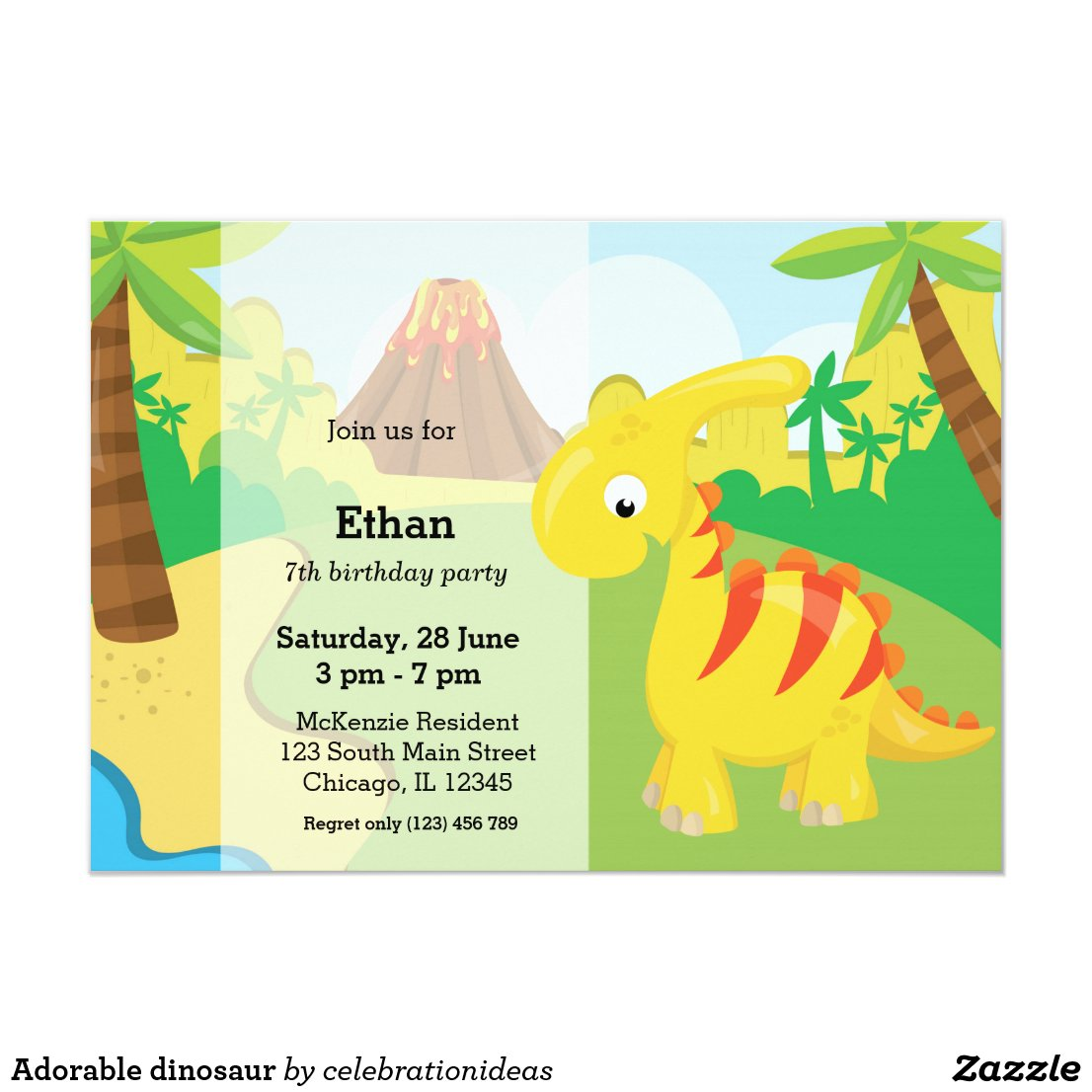 Adorable dinosaur card