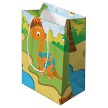 Adorable Dinosaur Medium Gift Bag