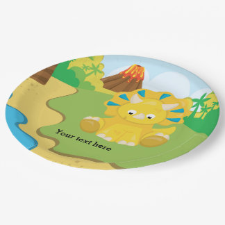 Adorable Dinosaur Paper Plate
