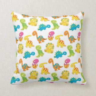 Adorable Dinosaur Throw Pillow