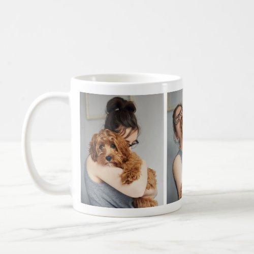 Adorable Dog Lovers Photo Collage Mug
