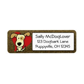 Adorable Dog Return Address Labels
