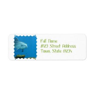 Adorable Dolphin Return Address Label