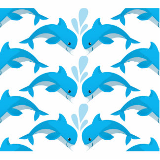 Adorable Dolphins Cutout