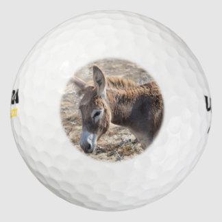 Adorable Donkey Golf Balls