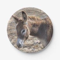 Adorable Donkey Paper Plate