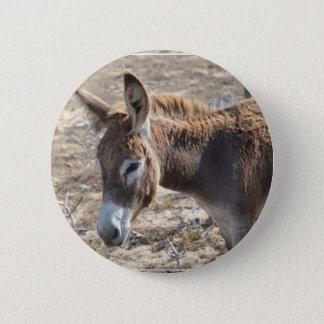 Adorable Donkey Pinback Button