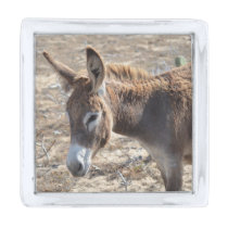 Adorable Donkey Silver Finish Lapel Pin
