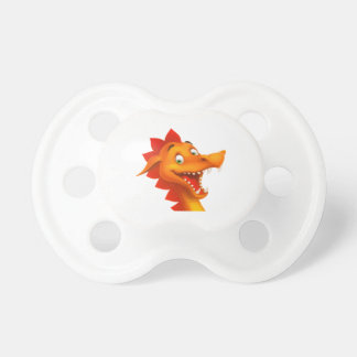 Adorable Dragon Face With Green Eyes BooginHead Pacifier