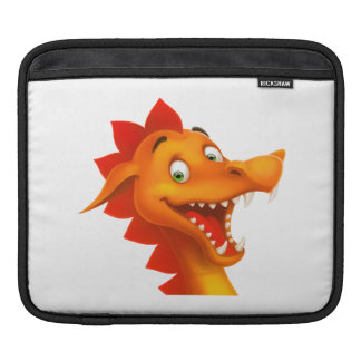 Adorable Dragon Face With Green Eyes Sleeve For iPads