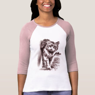 Adorable Drawing Cat Women's T-shirt