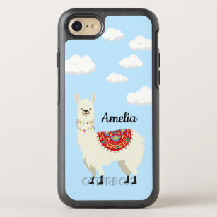outlet store a1469 745f1 Adorable Dressed Up Llama OtterBox Symmetry iPhone 8/7 Case