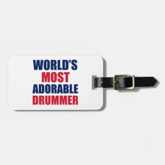 Adorable Drummer Bag Tag