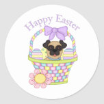 Adorable Easter Basket Pugs Tees and Gifts Sticker