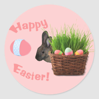 Adorable Easter Bunny  Card Stickers