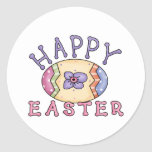 Adorable Easter Egg Tees and Gifts for Kids, Adult Round Stickers