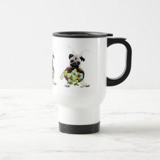 Adorable Easter Pug Bunny Tees and Gifts Travel Mug