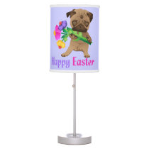 Adorable Easter Pug Gifts and Tees - Personalize Desk Lamp