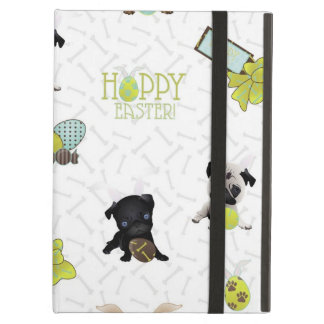 Adorable Easter Pugs with Eggs, Baskets iPad Air Cover