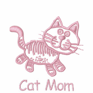 Adorable Ebroidered Cat Tees - Customizable - Pink
