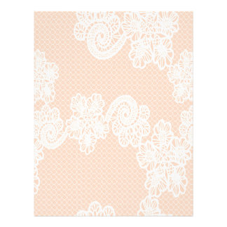 Adorable Elegant cute chic girly stylish lace Letterhead