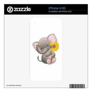 adorable elepahant with flower skin for iPhone 4S