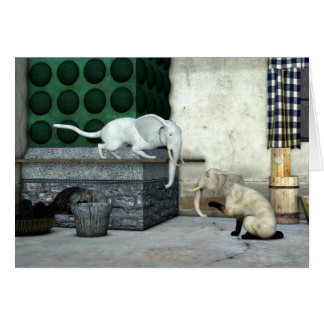 Adorable Elephant Cats Card