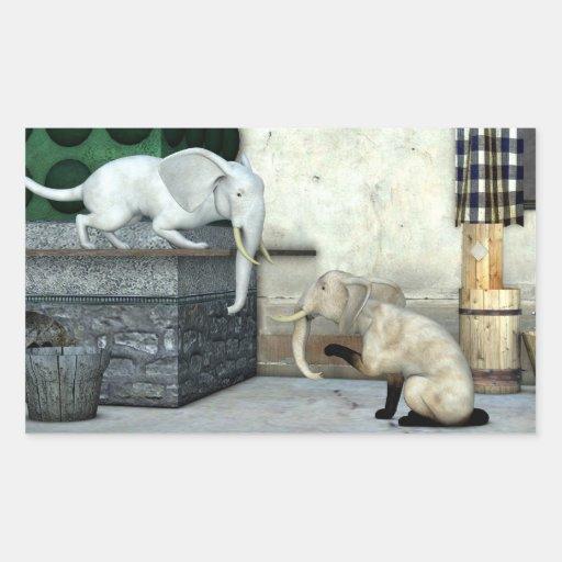 Adorable Elephant Cats Sticker