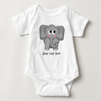 Adorable Elephant - Personalized Infant Onsie Baby Bodysuit