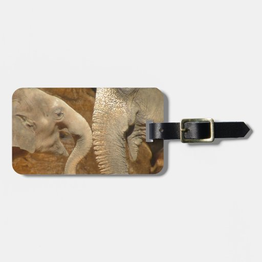 ADORABLE ELEPHANTS TAG FOR LUGGAGE