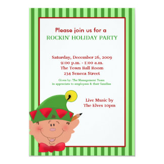 ADORABLE ELF Elves Holiday Christmas Red/Green Card