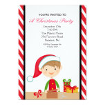 "Adorable Elf in Workshop Christmas Party Invite 5"" X 7"" Invitation Card"