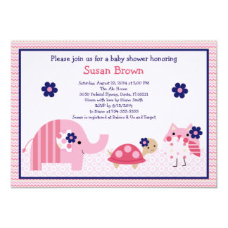Adorable Ellie/Ella Elephant Baby Shower Invite