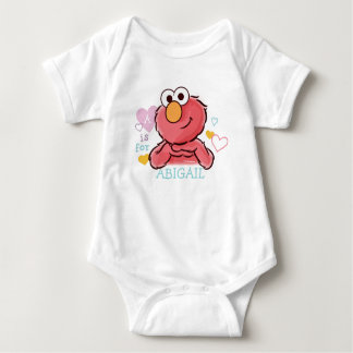 Adorable Elmo | Add Your Own Name Baby Bodysuit